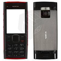 Корпус для Nokia X2-00 с клавиатурой, красный, оригинал