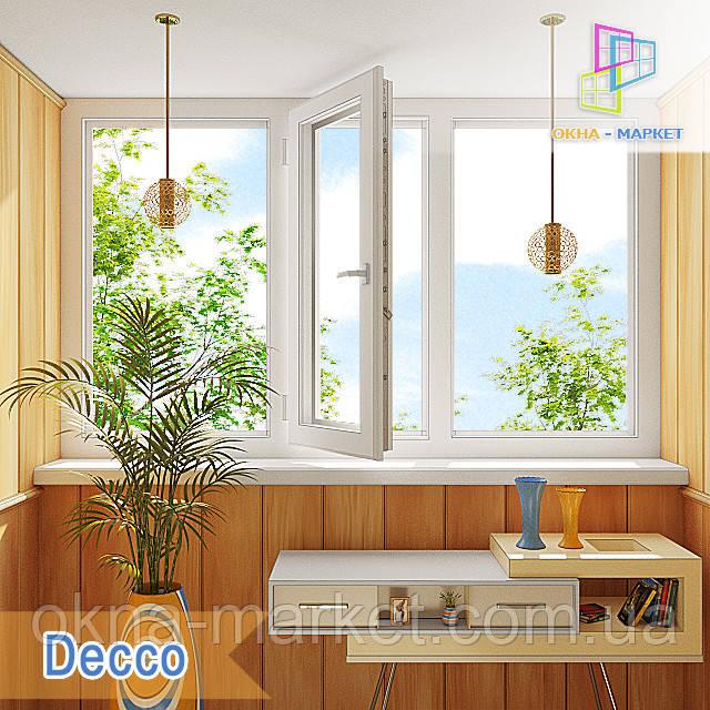 Лоджия на три части в профиле Decco 60, Decco 70, Decco 82