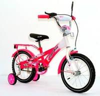 Велосипед 14« детский 141406-P (1) со звонком, зеркалом, вставками в колесах, фото 1