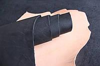 Юфть шорно-седельная черная, толщина 2.5 мм, арт. СК 1409, фото 1