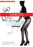 Колготы с пониженой талией пояс на силиконе Marilyn erotic vita bassa 30 den