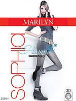Колготки плетёные теплые хлопковые Marilyn Sophia- ZG 611
