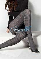 Колготки плотные с элегантным узором по всей длине ноги Marilyn Grace H 08