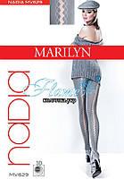 Колготки прозрачый шов ромбами Marilyn Nadia 629 40 den -