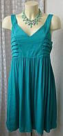 Платье женское летнее легкое модное сарафан мини бренд Promod. р.46 5713а