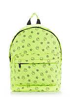 Зеленый стеганый рюкзак с уточками