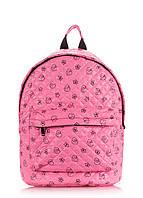 Розовый стеганый рюкзак с уточками  Украина