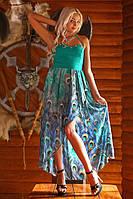 Джинсовое яркое шифоновое платье  Ясмин (джинс)1 от Медини