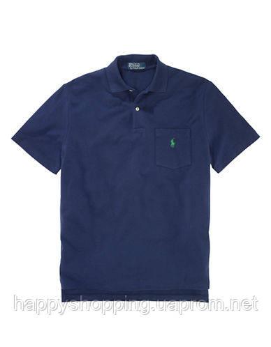 Темно-синяя футболка-поло Polo Ralph Lauren