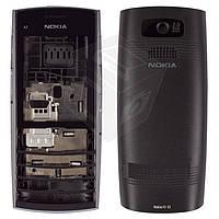 Корпус для Nokia X2-02 с клавиатурой, черный, оригинал
