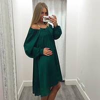 Платье женское короткое шифоновое с длинными рукавами P1269