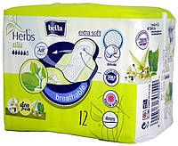 Прокладки женские Bella Herbs Tilia Breathable Extra Soft 12шт. (4мм.)
