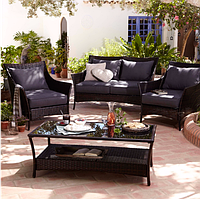 Набор садовой мебели George Home Jakarta Classic Conversation Sofa Set Charcoal