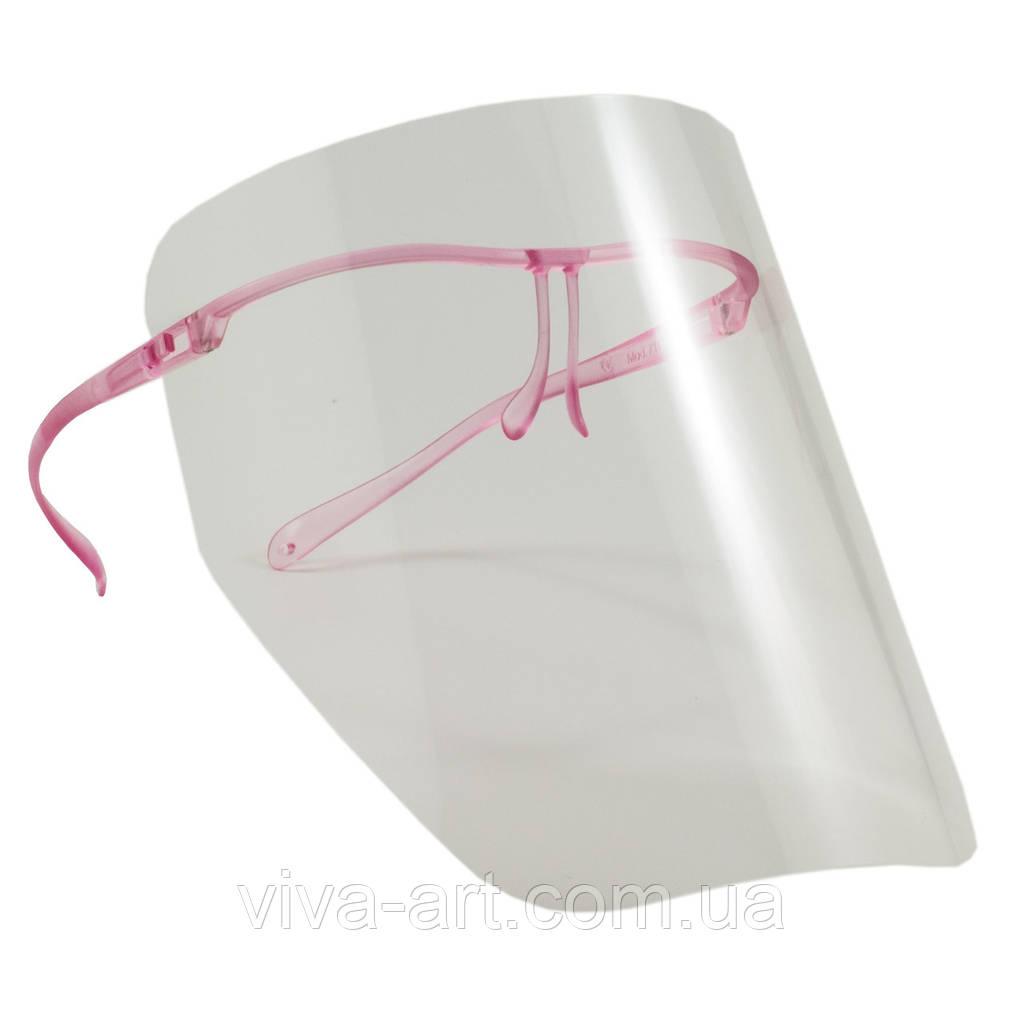 Щиток (10 шт.) без запотевания с пластиковой розовой рамкой Univet