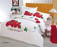 Комплект постельного белья  le vele сатин размер полуторный STRAWBERRY