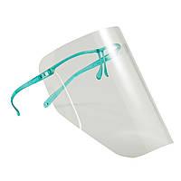 Щиток (10 шт.) без запотевания с пластиковой зеленой рамкой