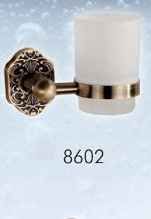 Стакан навесной стеклянный BADICO PREMIUM 8602 antic brass, фото 2
