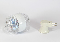 Вращающаяся диско лампа для вечеринок Ball 2015-1, светомузыка, LED lamp для вечеринок Bluetooth