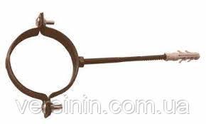 Хомут крепл. трубы Ø80 метал DEVOREX(деворекс )коричневая