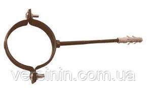 Хомут крепл. трубы Ø80 метал DEVOREX(деворекс )коричневая, фото 2