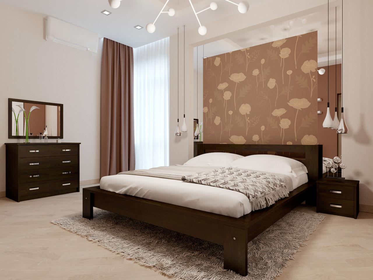 Ліжко півтораспальне в спальню, дитячу Сакура (Бук)140*200Неомеблі