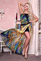 Шифоновое шикарное макси платье Вера с разрезом  от медини