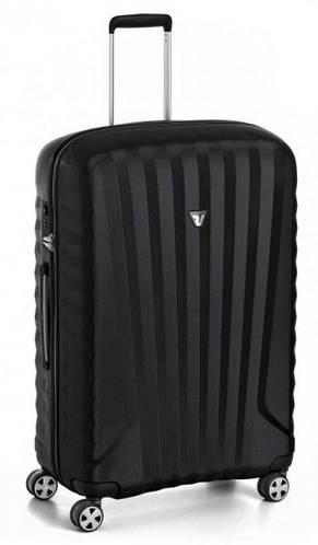 Чемодан средний пластиковый 4-колесный 71 л. Roncato UNO ZSL Premium 5165/01/01 черный