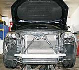 Декоративно-защитная сетка радиатора Audi Q7 S-Line фальшрадиаторная решетка, бампер, фото 2