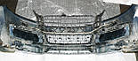 Декоративно-защитная сетка радиатора Audi Q7 S-Line фальшрадиаторная решетка, бампер, фото 3