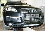 Декоративно-защитная сетка радиатора Audi Q7 S-Line фальшрадиаторная решетка, бампер, фото 4