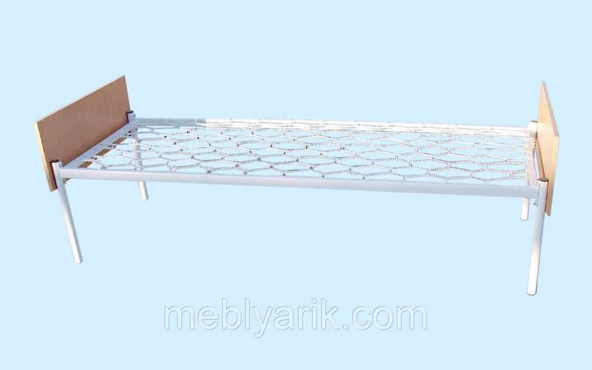 Кровать 1-спальная металлическая (метал. сетка, быльца - ДСП) 1900х800