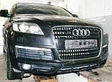 Декоративно-защитная сетка радиатора Audi Q7 S-Line фальшрадиаторная решетка, бампер, фото 5