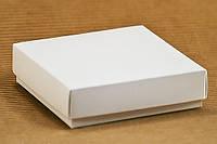 Бонбоньерка коробочка белая 90х90х25
