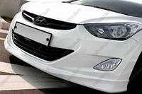 Защита бампера  переднего  на Hyundai  Elantra (Хюндай Елантра)  2010-