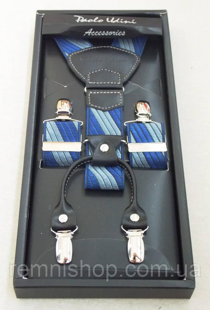 Мужские сине-серые подтяжки Paolo Udini