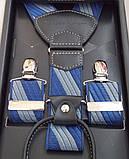 Мужские сине-серые подтяжки Paolo Udini , фото 4