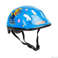 Детский защитный шлем Oushen код 466-121 для велосипедов роликов самокатов беговелов Синий