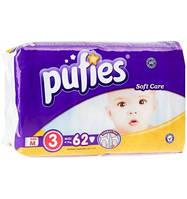 """Подгузники """"Pufies""""3 (4-9 кг)- 62 шт"""