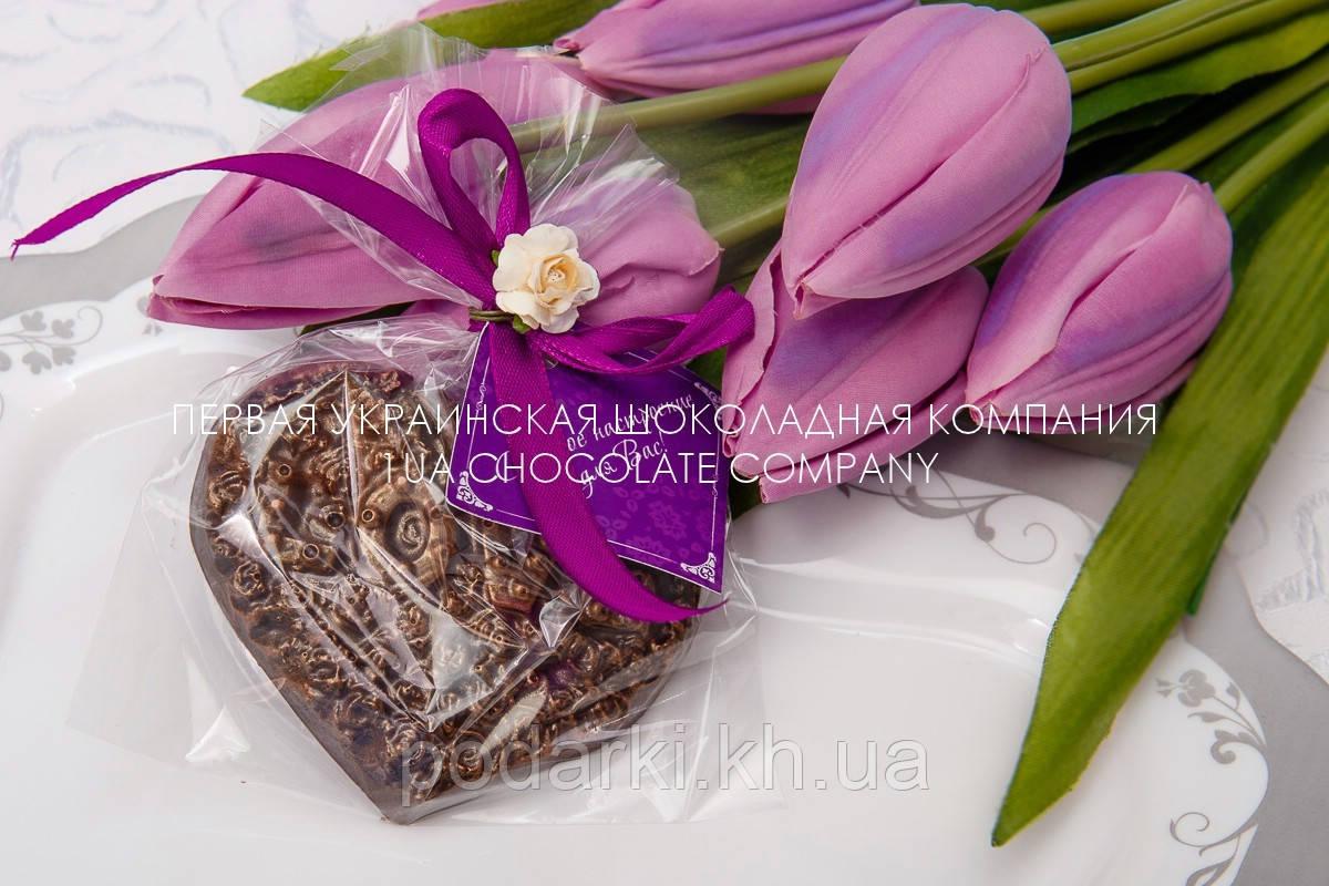 """Шоколадная сердце """"Love"""" в подарок"""