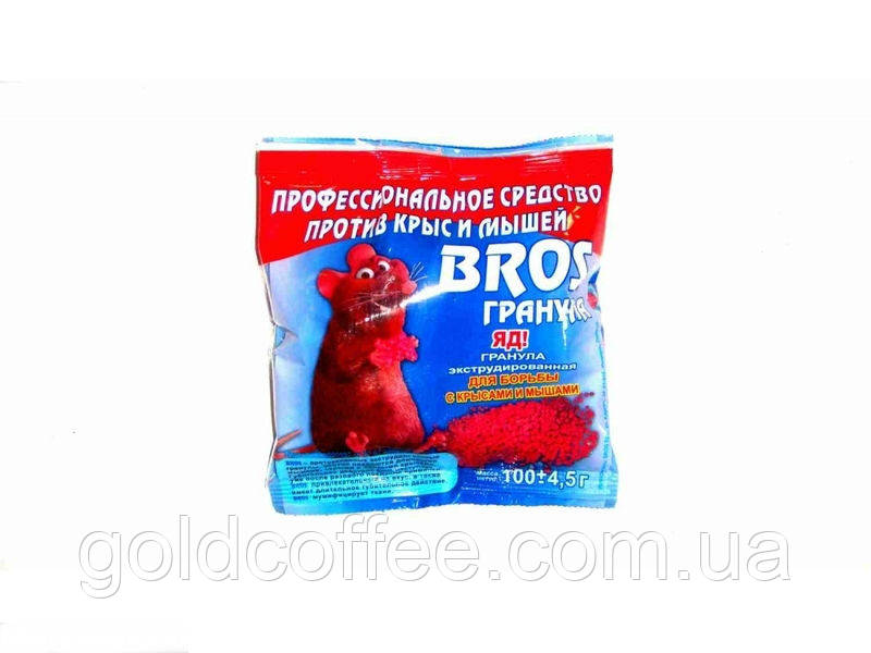Гранулы от грызунов Bros 100 гр