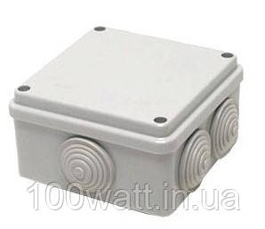 Коробка монтажная наружная 100х100х70 8 входов ST111