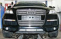 Декоративно-защитная сетка радиатора Audi Q7 S-Line фальшрадиаторная решетка, бампер