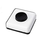 Кнопка звонка 220V открытой проводки, белая с черной кнопкой