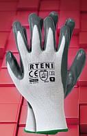 Защитные рукавицы изготовленные из полиэстера, покрытые нитрилом  RTENI