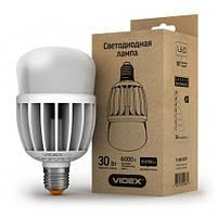 LED лампа светодиодная VIDEX A80 30W E27 6000K 220V матовая, фото 1