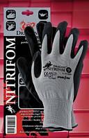 Перчатки рабочие NITRIFOM. Перчатки покрытые нитрилом, фото 1