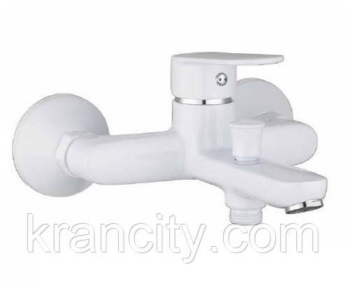 Однорычажный cмеситель для ванной, белый, IMPRESE 10040W LASKA,Чехия+ПОДАРОК