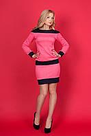 Шикарный костюм в комбинации двух цветов - юбка и кофточка из структурного трикотажа.
