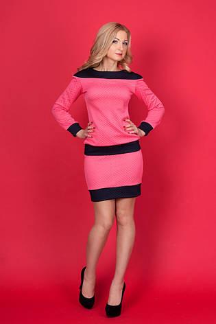 Шикарный костюм в комбинации двух цветов - юбка и кофточка из структурного трикотажа., фото 2