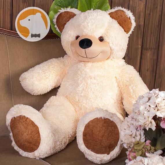 Большой плюшевый медведь Фокси, 100 см, кремовый